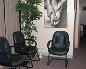 Massage therapy waiting room